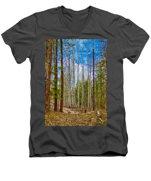 River Run Trail At Arrowleaf Men's V-Neck T-Shirt
