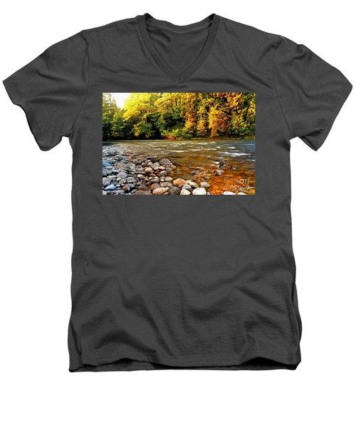 River Sunset Men's V-Neck T-Shirt