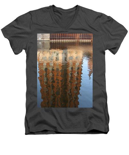 Riverwalk Reflection Men's V-Neck T-Shirt