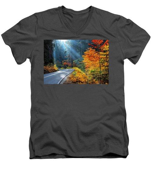 Road To Glory  Men's V-Neck T-Shirt by Lynn Bauer
