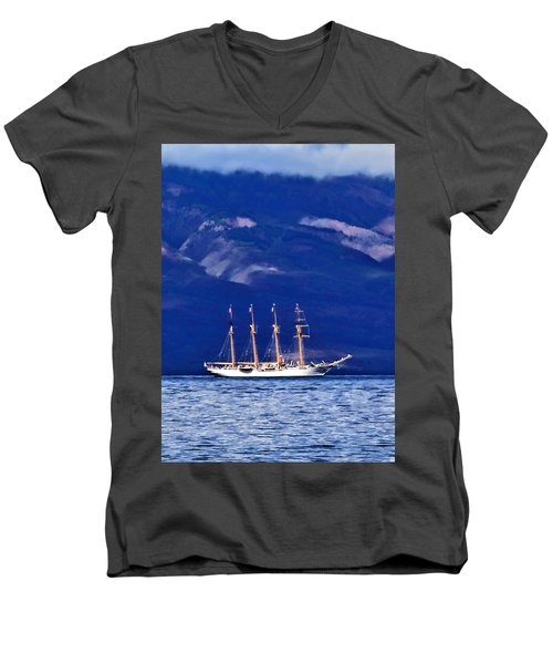 Men's V-Neck T-Shirt featuring the photograph Road To Lahaina 34 by Dawn Eshelman