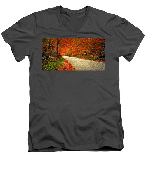 Men's V-Neck T-Shirt featuring the photograph Road To Nowhere by Bill Howard