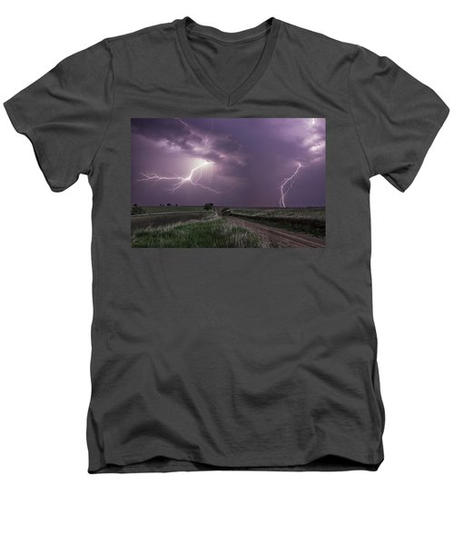 Road To Nowhere - Lightning Men's V-Neck T-Shirt