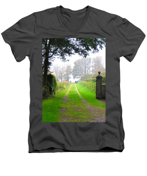 Road To Nowhere Men's V-Neck T-Shirt by Suzanne Oesterling