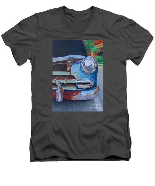Road Warrior Men's V-Neck T-Shirt by Pamela Clements