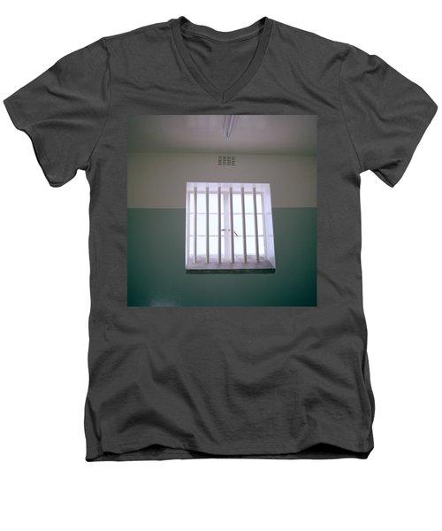 Robben Island Men's V-Neck T-Shirt by Shaun Higson
