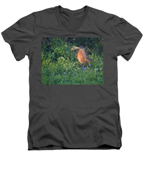 Robin Gathering For Nest Men's V-Neck T-Shirt
