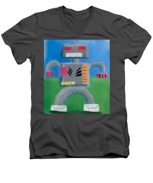 Metallic Men's V-Neck T-Shirt by Joshua Maddison