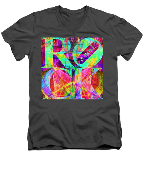 Rock And Roll 20130708 Fractal Men's V-Neck T-Shirt