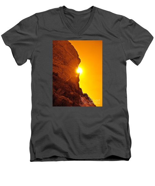 Rock Eclipse  Men's V-Neck T-Shirt
