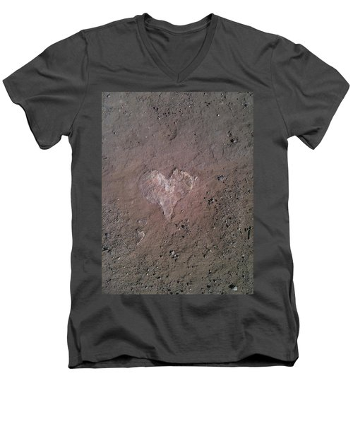 Rock Heart Men's V-Neck T-Shirt