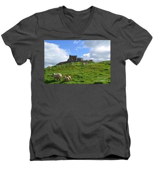 Rock Of Cashel In The Distance Men's V-Neck T-Shirt