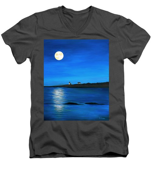 Rockport Harvest Moon Men's V-Neck T-Shirt