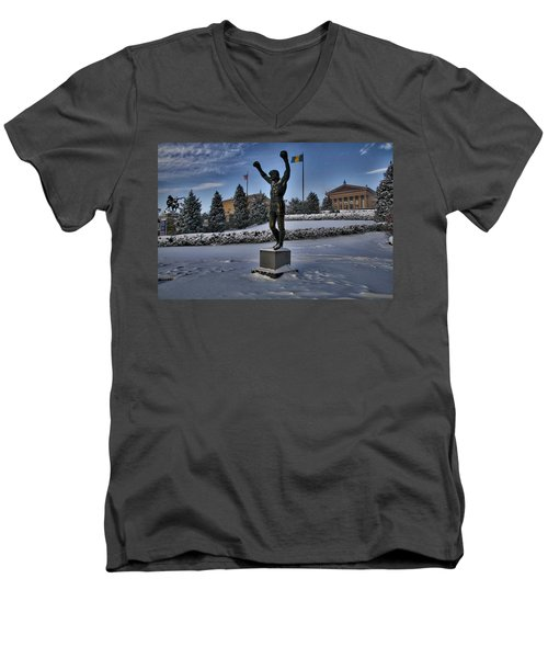 Rocky In The Snow Men's V-Neck T-Shirt