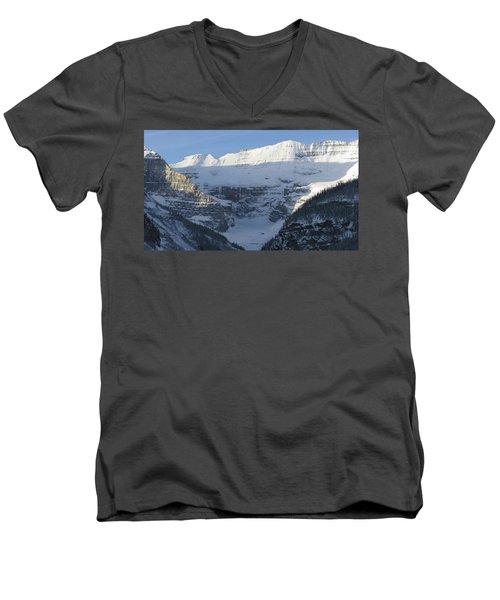 Rocky Mountain Blue Men's V-Neck T-Shirt by Cheryl Miller