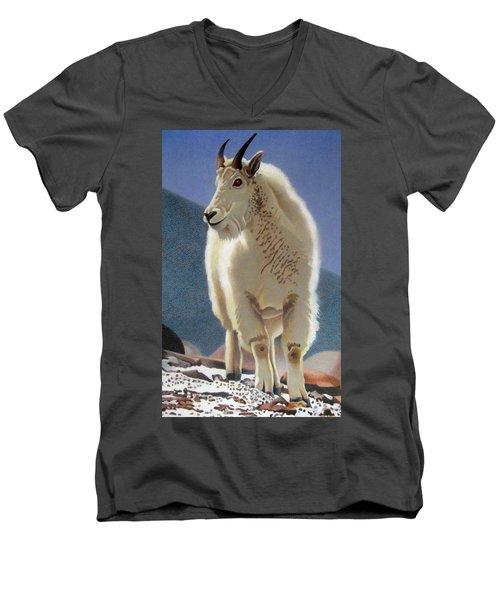 Rocky Mountain Goat Men's V-Neck T-Shirt