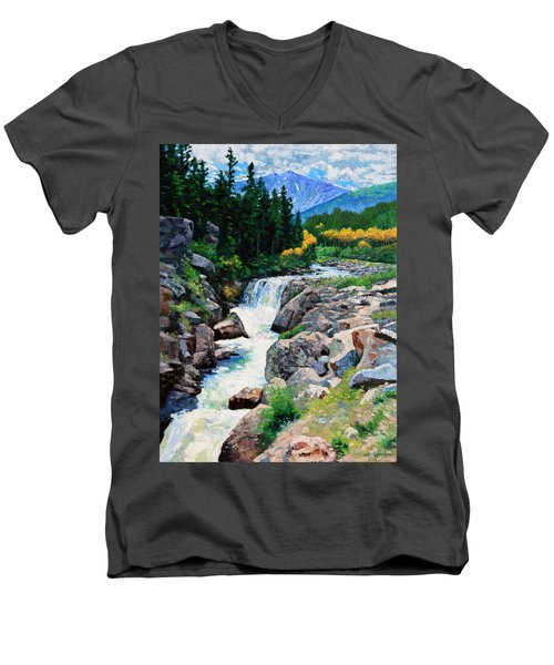 Rocky Mountain High Men's V-Neck T-Shirt