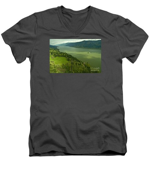 Roll On Columbia Roll On Men's V-Neck T-Shirt by Nick  Boren