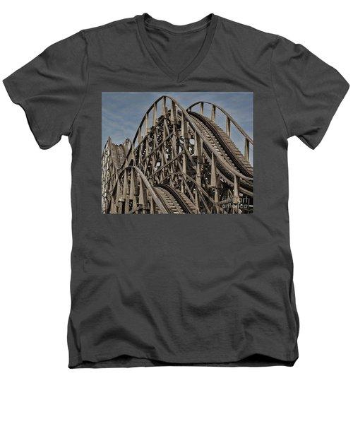 Roller Coaster Men's V-Neck T-Shirt