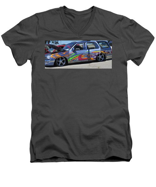 Rolling Art Lowrider Men's V-Neck T-Shirt