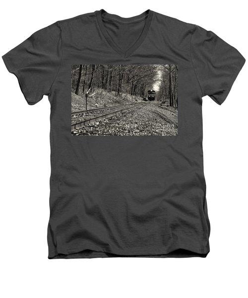 Rolling Down The Tracks Men's V-Neck T-Shirt