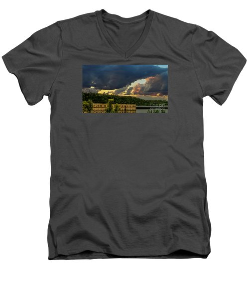 Storm Clouds Rolling In Men's V-Neck T-Shirt