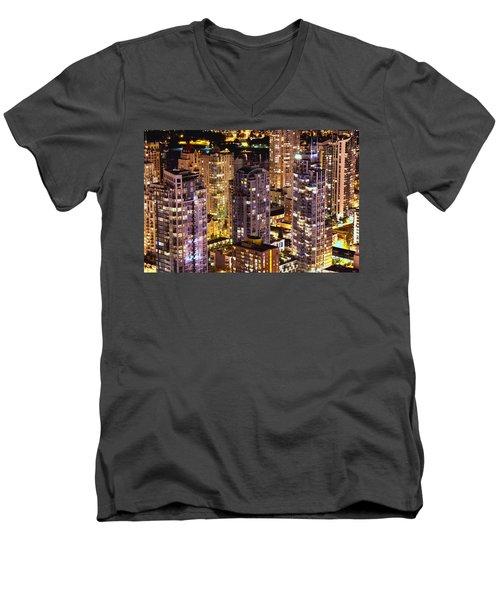 Romantic Yaletown Vancouver Canada Mcdxxxi Men's V-Neck T-Shirt