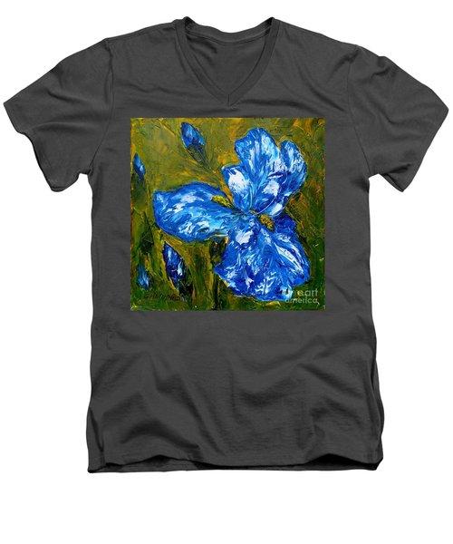 Romantic Iris Men's V-Neck T-Shirt