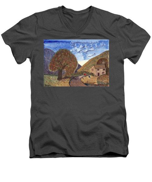 Romantic Walk Men's V-Neck T-Shirt by Tracey Williams