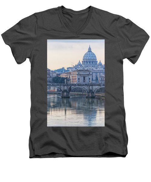 Rome Saint Peters Basilica 02 Men's V-Neck T-Shirt