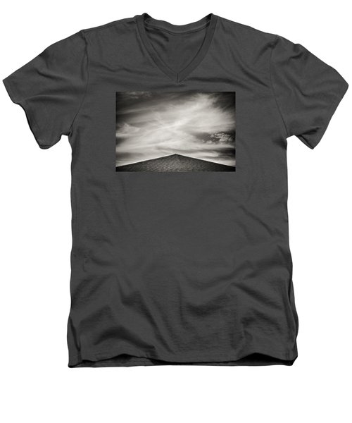 Rooftop Sky Men's V-Neck T-Shirt by Darryl Dalton