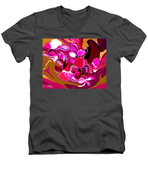 Rooster Men's V-Neck T-Shirt by Loxi Sibley