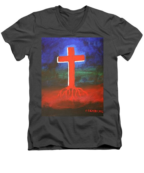 Rooted Men's V-Neck T-Shirt