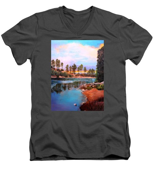 Rose Canyon Lake 2 Men's V-Neck T-Shirt