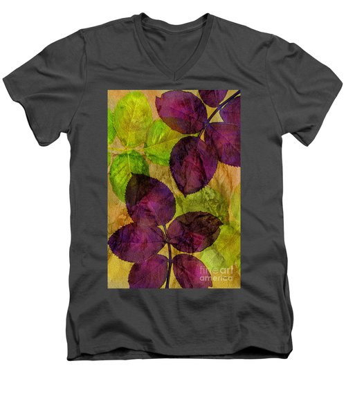 Rose Clippings Mural Wall Men's V-Neck T-Shirt by Claudia Ellis