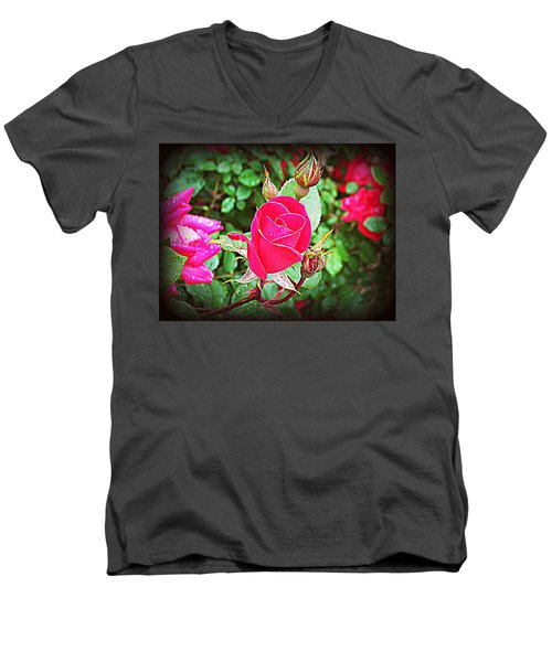 Rose Garden Centerpiece 2 Men's V-Neck T-Shirt