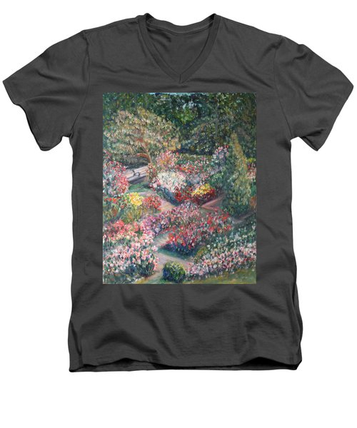 Rose Garden Men's V-Neck T-Shirt