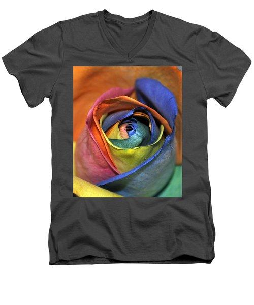 Rose Of Equality Men's V-Neck T-Shirt by Jim Brage