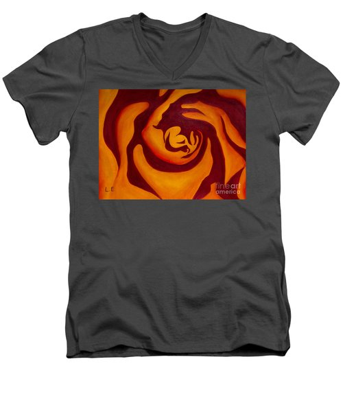 Rose Whirl 2 Men's V-Neck T-Shirt