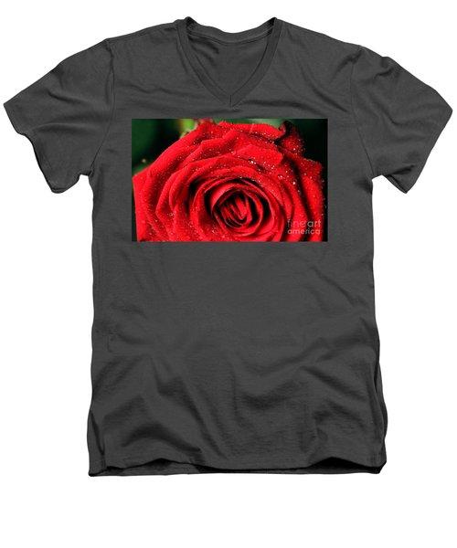 Men's V-Neck T-Shirt featuring the photograph Roses 4 by Mariusz Czajkowski