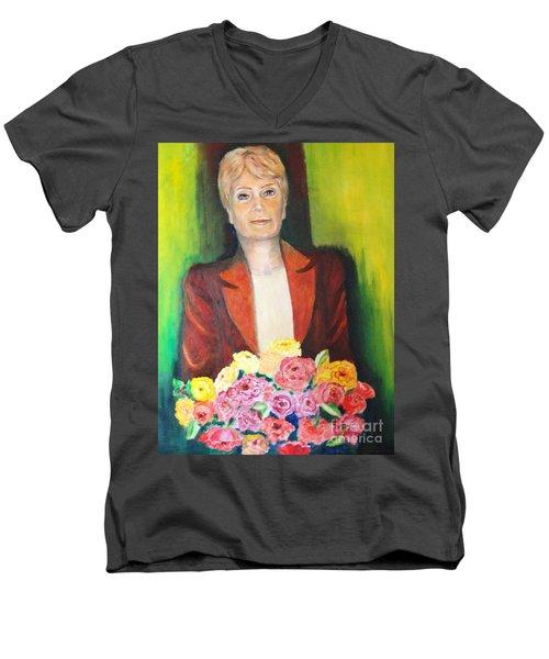 Roses For The Lady Men's V-Neck T-Shirt