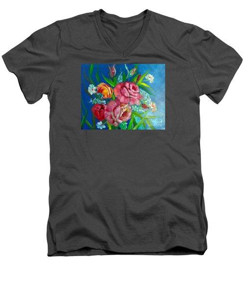 Roses Roses Jenny Lee Discount Men's V-Neck T-Shirt