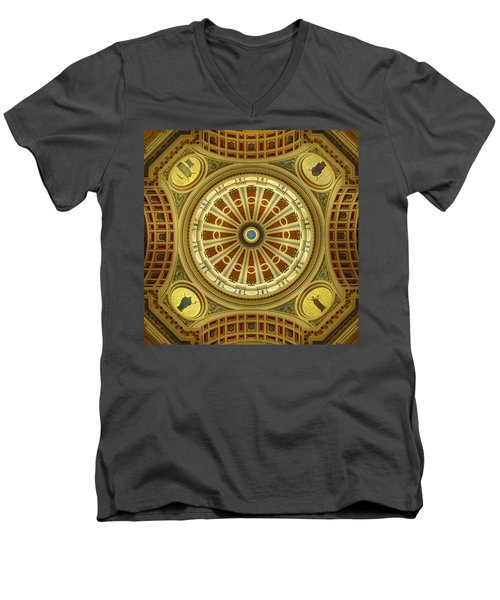 Men's V-Neck T-Shirt featuring the photograph Rotunda by Joseph Skompski