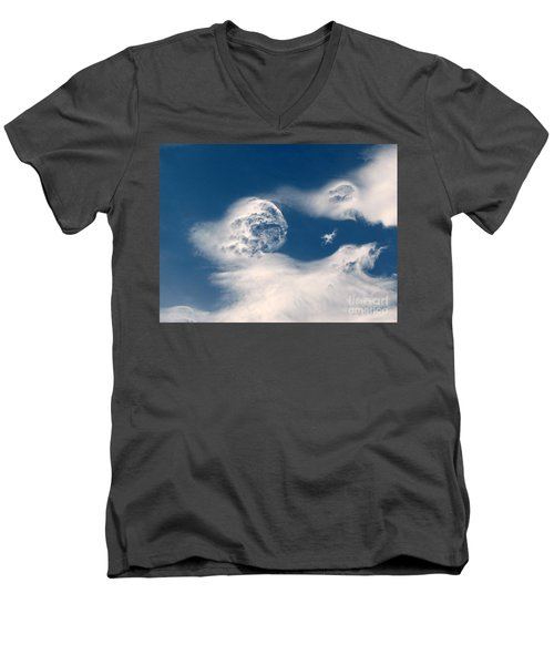 Round Clouds Men's V-Neck T-Shirt
