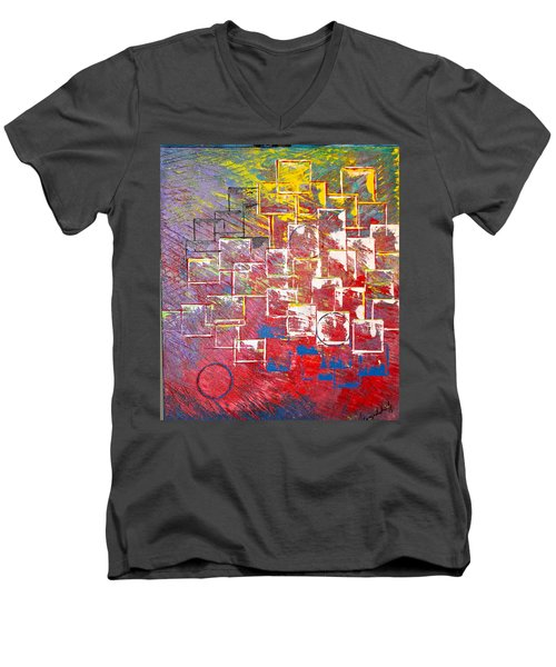 Round Peg Men's V-Neck T-Shirt