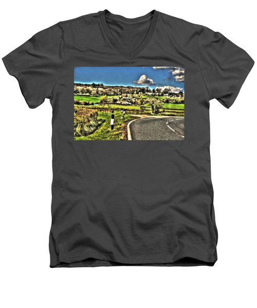 Men's V-Neck T-Shirt featuring the photograph Round The Bend by Doc Braham