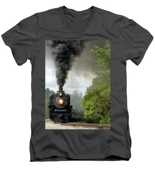 Steamin' In The Valley Men's V-Neck T-Shirt