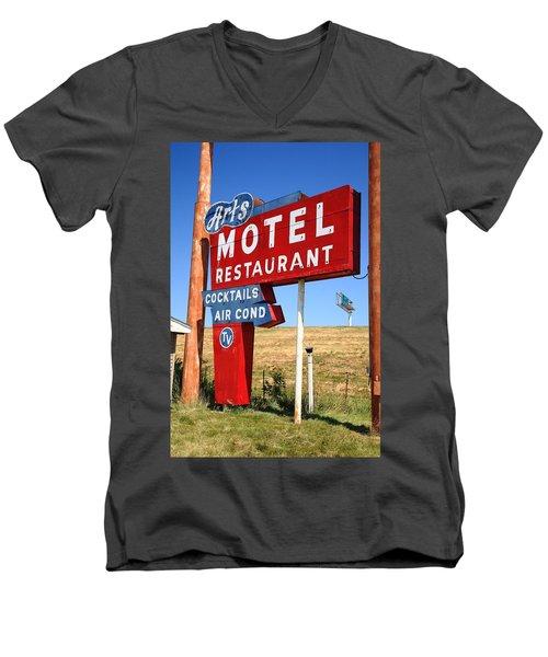 Route 66 - Art's Motel Men's V-Neck T-Shirt