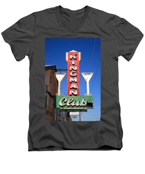 Route 66 - Kingman Club Men's V-Neck T-Shirt
