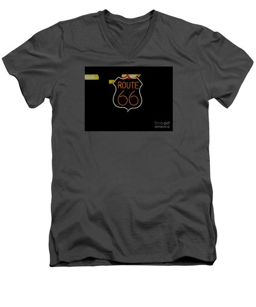Route 66 Revisited Men's V-Neck T-Shirt by Kelly Awad